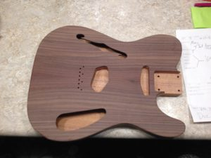 guitar mill tele style rosewood