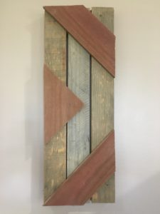 geometric pallet wood art
